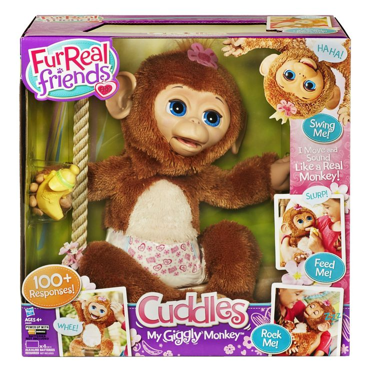 FurReal Friends Cuddles My Giggly Monkey Pet