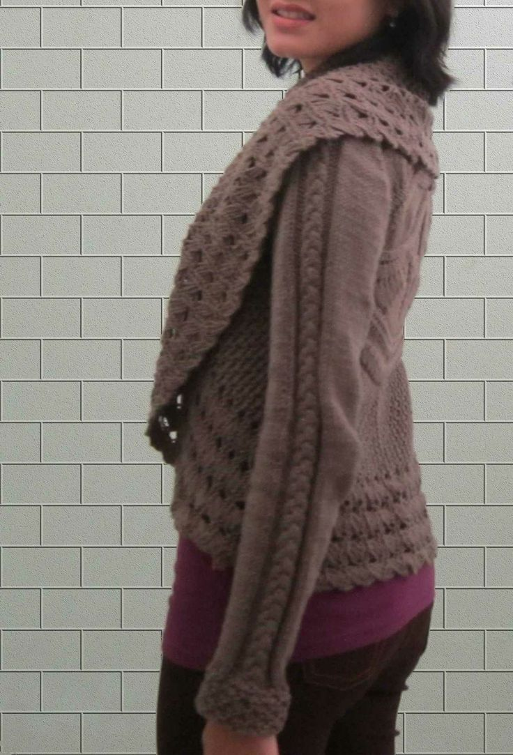 Adding sleeves for my Botanica Medallion Cardi, read more here : http://tinkerie.blogspot.com/2013/12/adding-sleeves-from-sleeveless.html