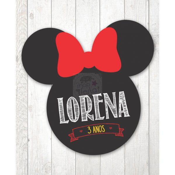 Placa fundo mesa Minnie