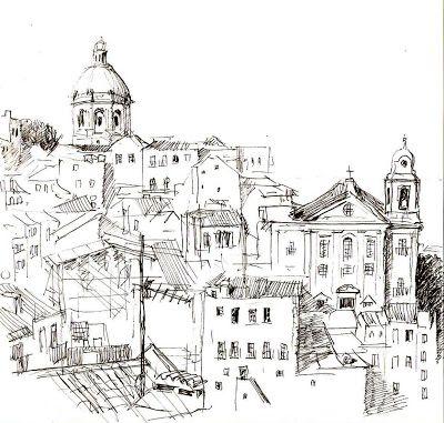 Alfama desde el mirador de Sta.Luzía. Lisboa