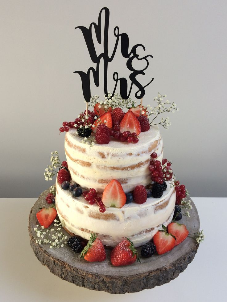 Naked Cake Hochzeitstorte – Strandhochzeit ☀️ – # Beach # Hochzeitstorte # T …   – kuchen rezepte