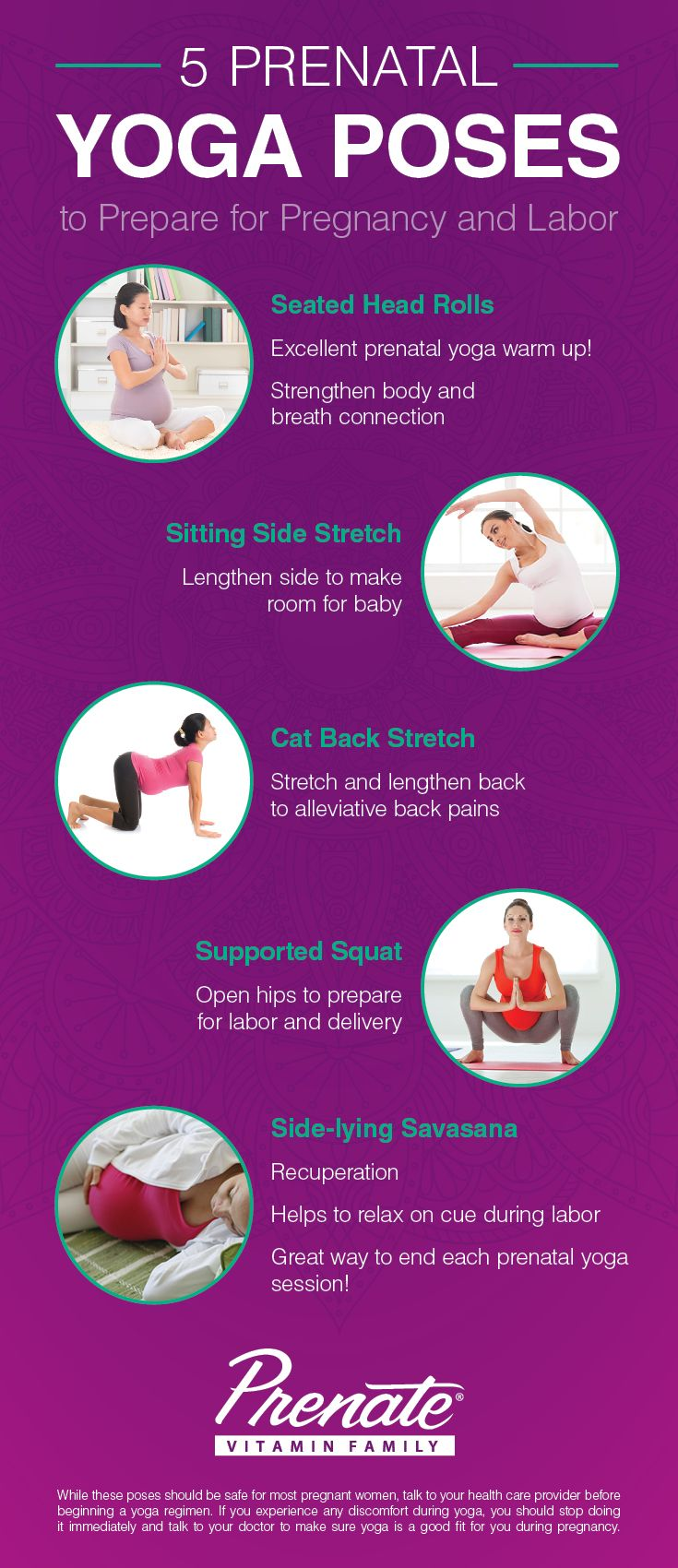 Tuesday Tip! Yoga is an excellent way to stay in shape, control your weight gain and relieve stress during pregnancy. Check out our 5 favorite prenatal yoga poses. #prenatal #yoga #pregnancytips https://prenatepregnancy.wordpress.com/2016/01/18/prenatal-yoga-for-pregnancy-and-labor/