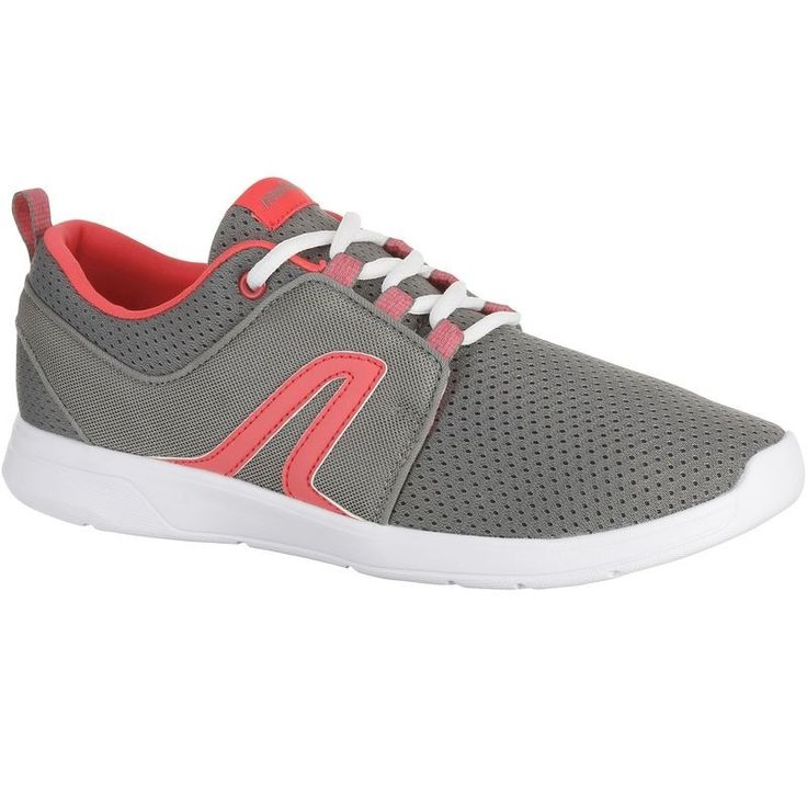 Check out our New Product  Soft 140 Womens Active Walking Shoes Grey and Pink COD •Provides elasticity thanks to the flex grooves and the stretch mesh.•Thick EVA foam outsole absorbs shocks.•Perspiration is wicked away thanks to the ventilated mesh textile upper.•Facilitates walking thanks to its materials:150g per shoe in size 6.  ₹1,802