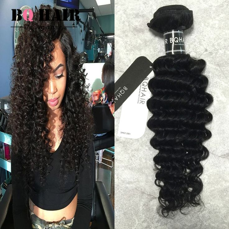 BQ HAIR Grade 7A Mink Human Hair Deep Wave 4 bundles Indian Deep Wave  Natural Black Color Aliexpress Raw Indian Hair Cambodian