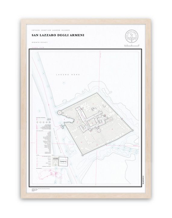 SAN LAZZARO degli ARMENI 42x60 poster / (other) venetian lagoon islands