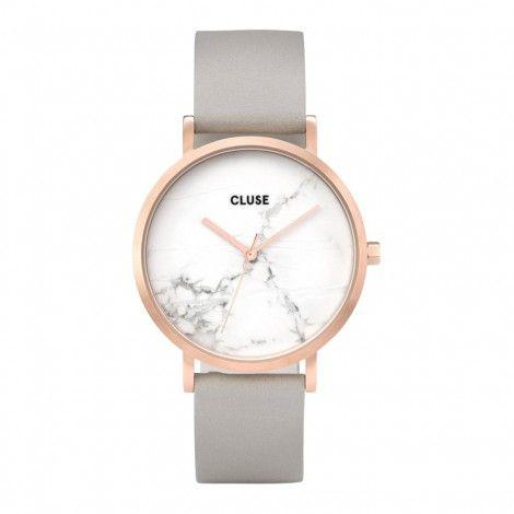 Koop dit CLUSE La Roche Rose gold White Marble 38mm Horloge CL40005 horloge online in onze webwinkel. Dit is een dames horloge met een quartz uurwerk. De kleur van de kast is rose goud en de kleur van het uurwerk is wit. De kast is gemaakt van rvs en de band van het horloge van leer. Het uurwerk is analoog en er wordt gebruik gemaakt van mineraalglas. ...