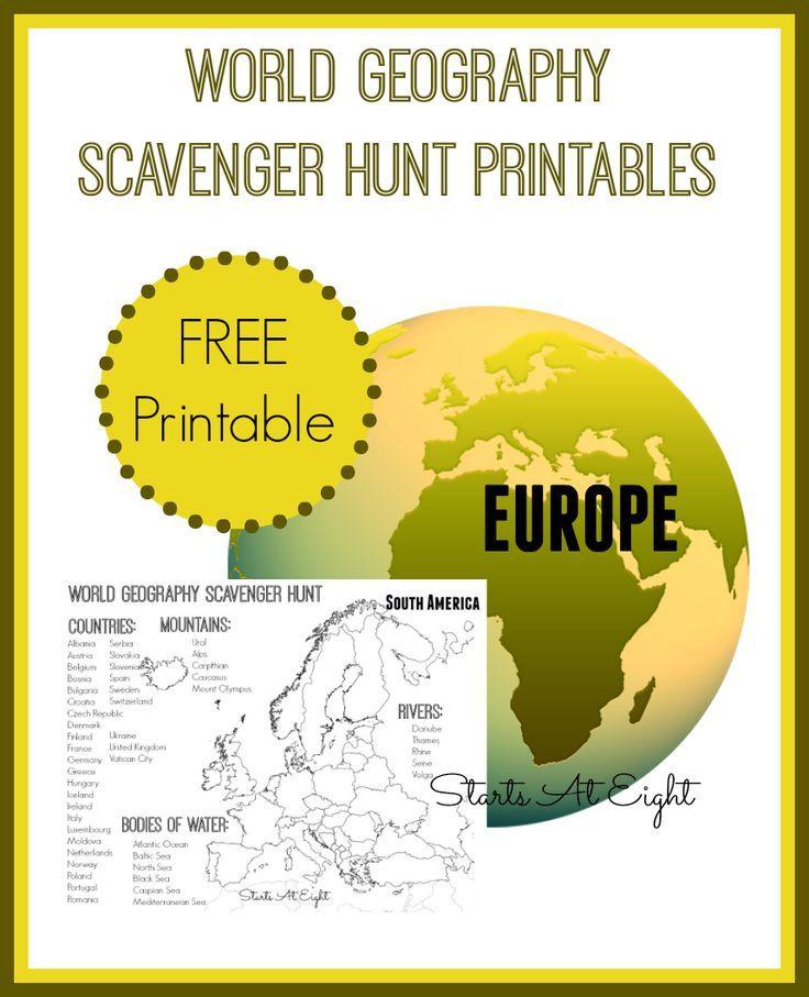 Scavenger Hunt Worksheets & Printables