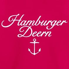 Hamburger Deern Teenager T-Shirt Klassisch Anker (