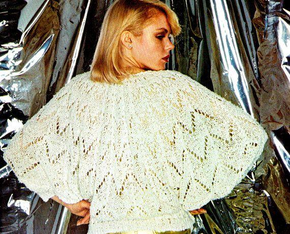 PDF Vintage Womens Ladies Knitting Pattern ANGEL Top 1980s