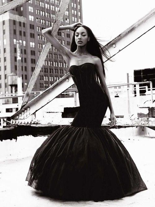 Wallpaper Jourdan Dunn Top Fashion Models 2015 Model: Jourdan Dunn - Black Wedding Dress