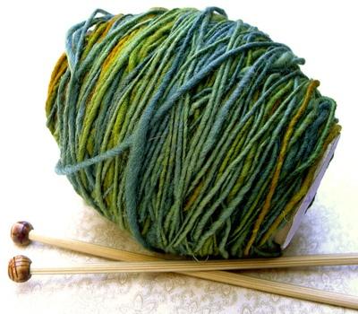 hand dyed and spun yarn