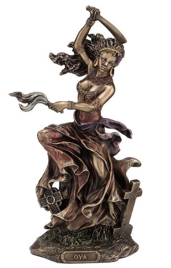 """9.5 """"Orisha Oya Lucumi Santeria Estatua Estatuilla Figura Africana Dios Viento Ife   Objetos de colección, Religión y espiritualidad, Wicca y paganismo   eBay!"""