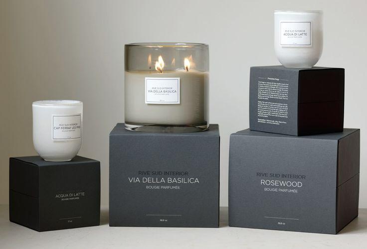 La collection de bougies parfumées Rive Sud Interior / Rive Sud Interior scented candles collection #rivesudinterior #candle #luxurycandle #scentedcandle #bougie