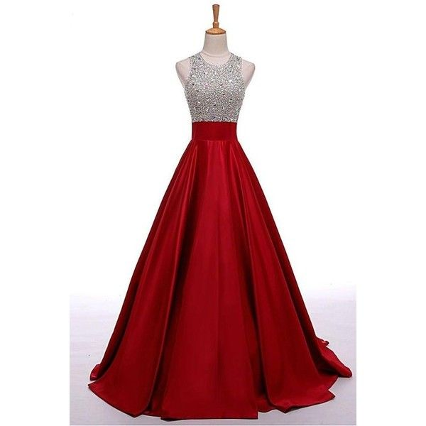 Prom Dresses,Evening Dress,Party D.. ❤ liked on Polyvore featuring dresses, going out dresses, party dresses, red prom dresses, prom dresses and holiday party cocktail dresses