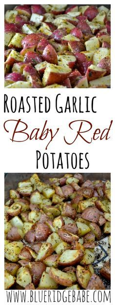 healthy & crispy roasted garlic baby red potatoes