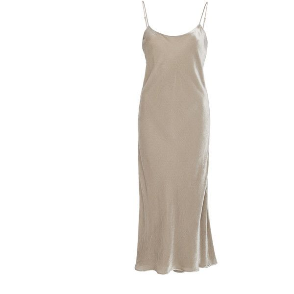 Tibi Velvet Bias Tank Dress (2.295 BRL) ❤ liked on Polyvore featuring dresses, tibi, neutral, cami dress, velvet tank dress, tank dresses and brown velvet dress