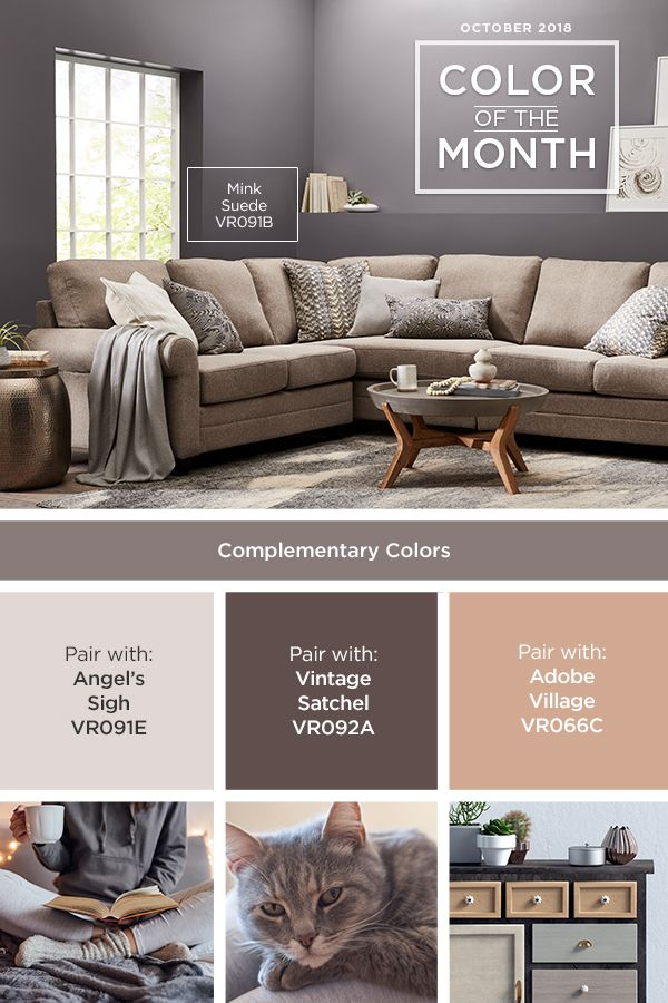 Mink Suede From Valspar Our October Color Of The Month Looks Great