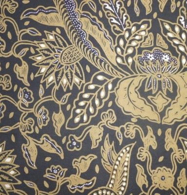 Natural Color Primissima Cotton Batik – Yellow Flower Motif
