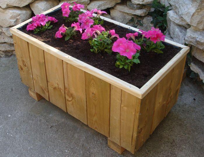 tutoriel fabriquer un bac fleurs femme2decotv cour et jardin pinterest gardens. Black Bedroom Furniture Sets. Home Design Ideas