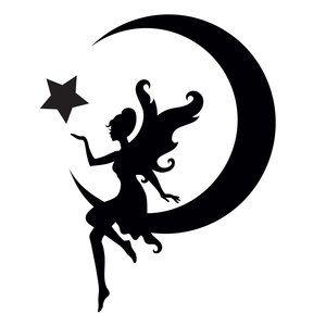 Pochoir Fée et Lune ,Glamourati,Pochoirs Tatouages cheval