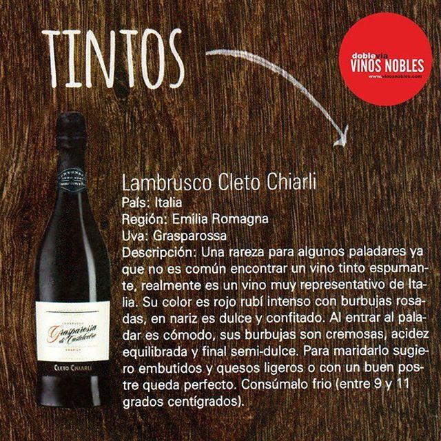 Recuerda que puedes pedir en nuestro sitio web el delicioso #LambruscoCletoChiarli tinto, ¡perfecto para todos los días de la semana! www.vinosnobles.com #VinosNobles  #Vino #Wine #Winelover #ClubdeVinos #Sommelier #Viñedos #RutaDelVino #WineTour #WineTasting #Winery #Winemaker #Harvest #Cellar #Travel #Food #Culture #Barrels #Grapes #Catas #Sibarita