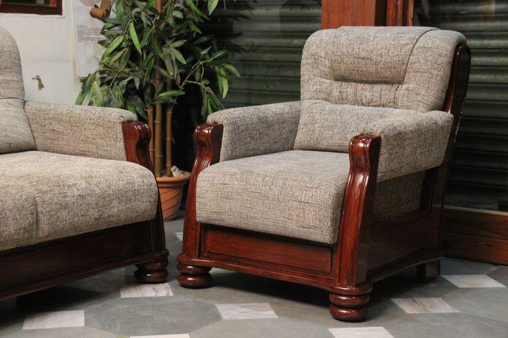 Teak Wood Sofa with Jute tapestry  Furniture Designs  Pinterest