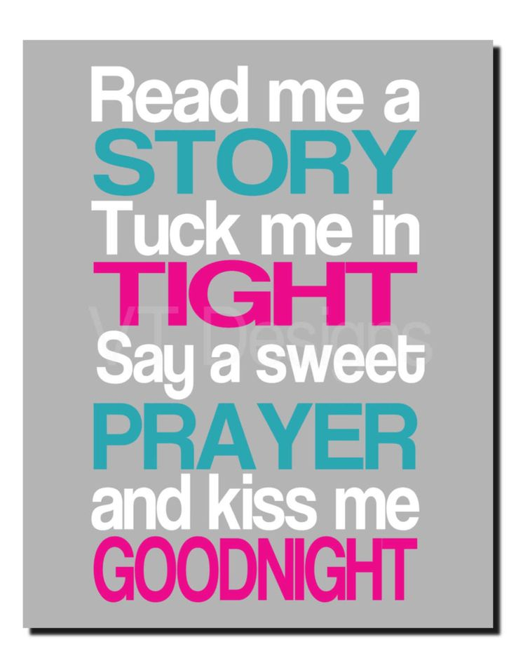Read Me A Story, Tuck Me In Tight, Girl Nursery Decor, Kids Wall Art, Hot Pink, Teal, Aqua, White, Magenta, Girls Room Quotes, Art Print by vtdesigns on Etsy