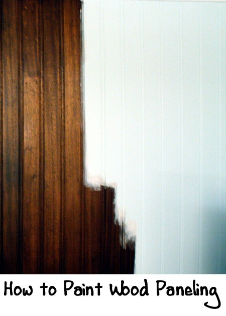 Wood paneling on a wall can make a room look dark and make it look dated.  Instead of taking down the paneling (who knows what you are going to find or what damage you are going to make), consider painting the wood paneling to freshen up the room. Follow the steps below to paint wood paneling.