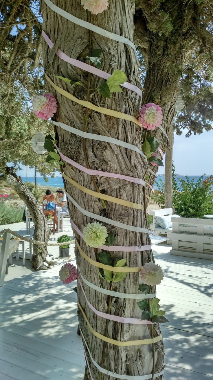 What to do with a tree - flower tree styling by Islandevents.gr #2weddingplannersinnaxos #inspirationeverywhere