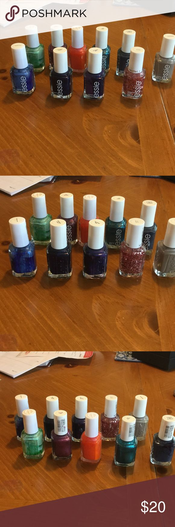 Nail polish Essie polish.  All have been used once or twice. I'm tired of these colors.  One price buys all essie Makeup