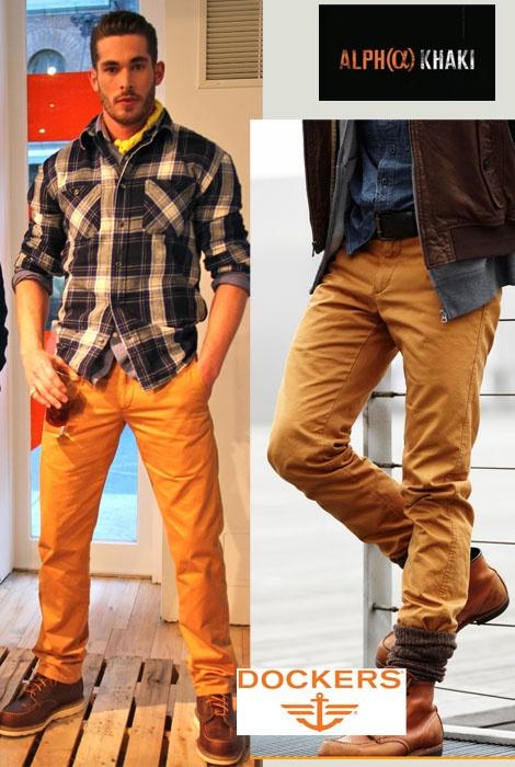 Dockers Alpha Khaki Slim Tapered Chinos Men Style