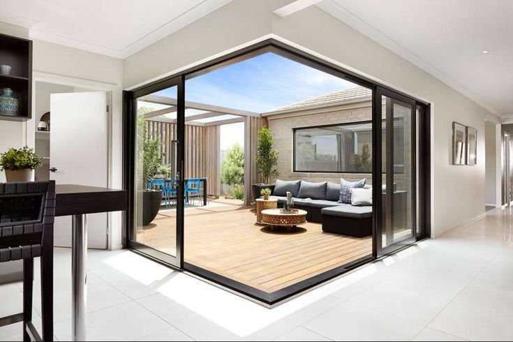 Create the ultimate in indoor-outdoor living with the Boutique cavity sliding door.