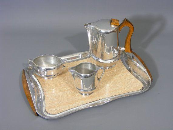 Tea Service Rare Full Set Classic Picquot Ware Free UK Postage