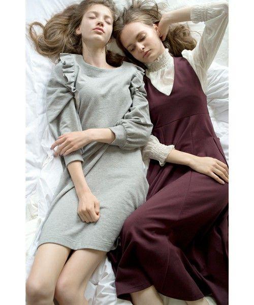 【MEG着用】CAROLINA GLASER / 裏毛フリル ワンピース(ワンピース)|CAROLINA GLASER(カロリナ グレイサー)のファッション通販 - ZOZOTOWN