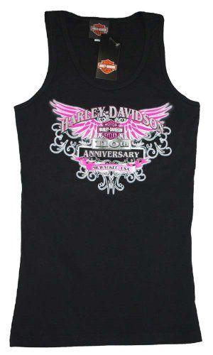 House of Harley-Davidson® Women's Harley-Davidson® Pink Winged Black 100th Anniversary Tank T-Shirt. House of Harley-Davidson® Graphics on B...http://bikeraa.com/house-of-harley-davidson-womens-harley-davidson-pink-winged-black-100th-anniversary-tank-t-shirt-house-of-harley-davidson-graphics-on-back-black-tee-302962690-3/