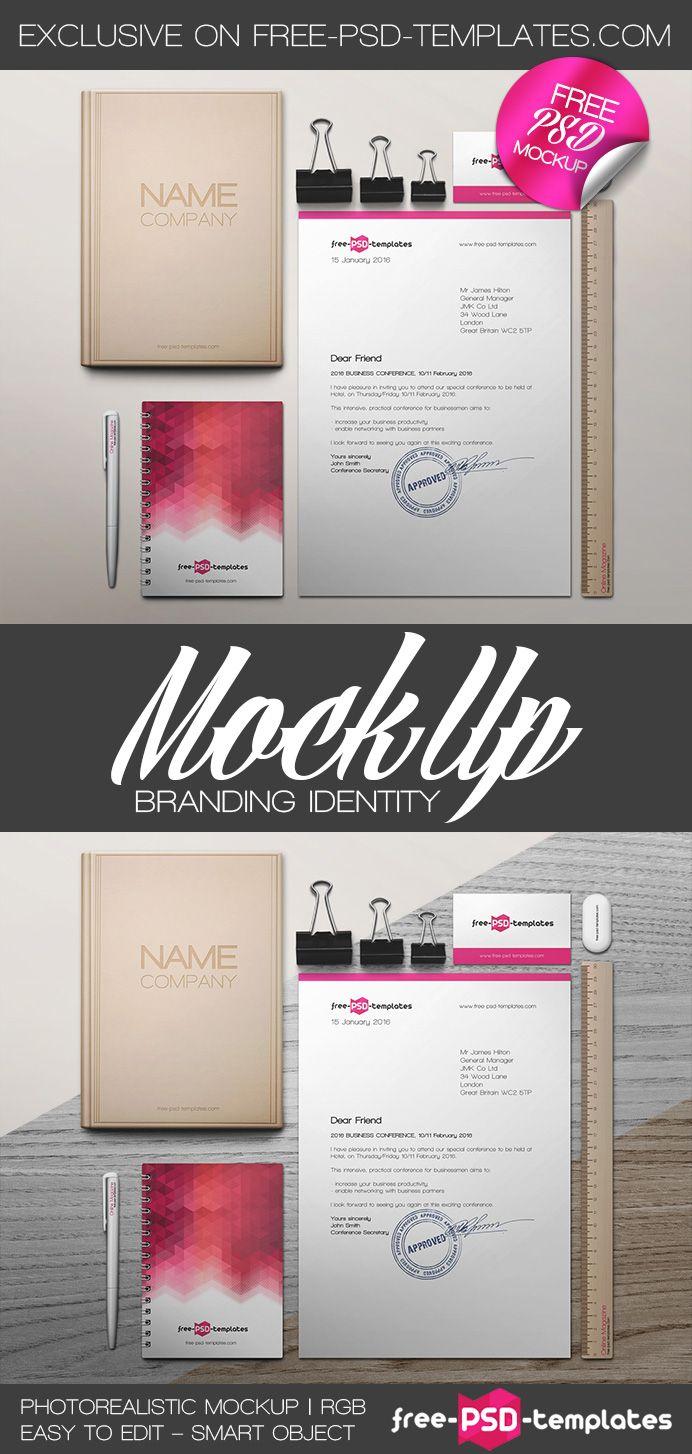 Free Branding Identity Mock-up (51.3 MB) | free-psd-templates.com | #free #photoshop #mockup