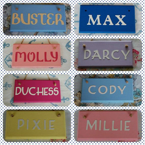 Personalised Pet crate cage hutch name sign plaque. Any name