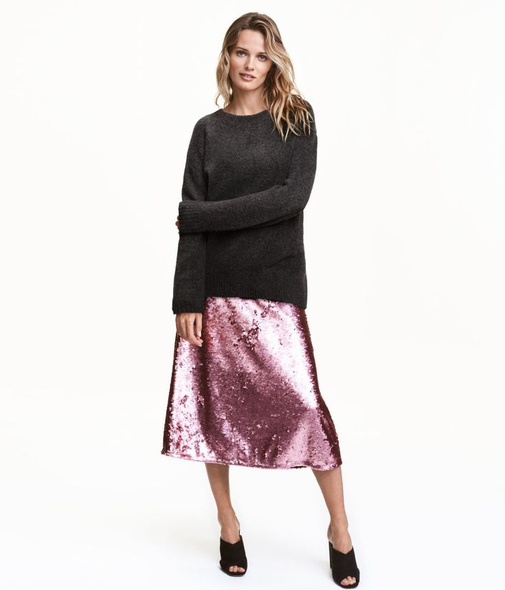 Sequined Skirt | Party in H&M