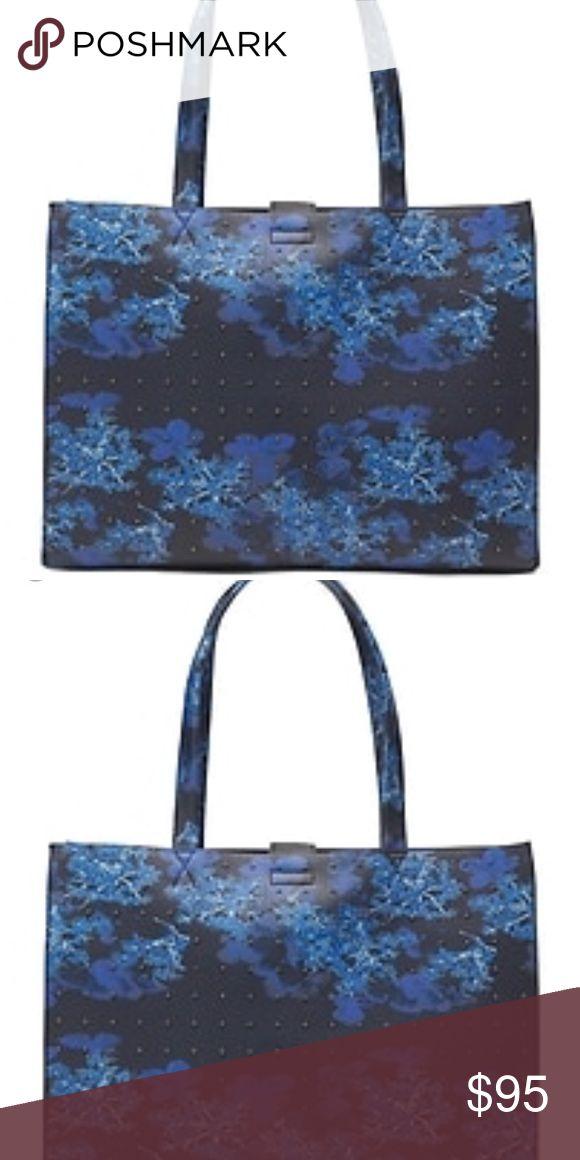 NWT Banana Republic blue floral tote bag! Brand new! Blue floral studded tote bag. Banana Republic Bags Totes