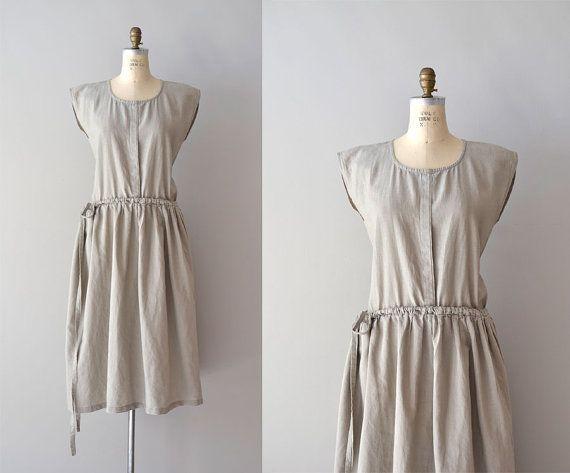 vintage sack dress / linen dress  / Oyster tent by DearGolden, $88.00