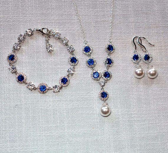 Sapphire Blue Amethyst Purple or Clear Cubic Zirconia CZ