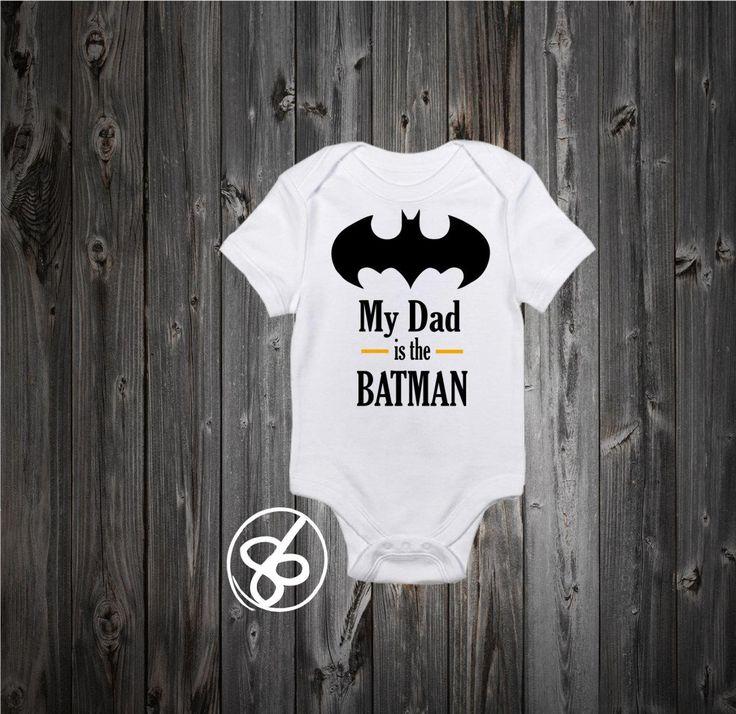 My Dad is the Batman Baby Onesie and Kids Shirt - Batman Bodysuit - The Dark Knight Onesie - Fathers Day Onesie - http://www.babies-clothes.info/my-dad-is-the-batman-baby-onesie-and-kids-shirt-batman-bodysuit-the-dark-knight-onesie-fathers-day-onesie.html