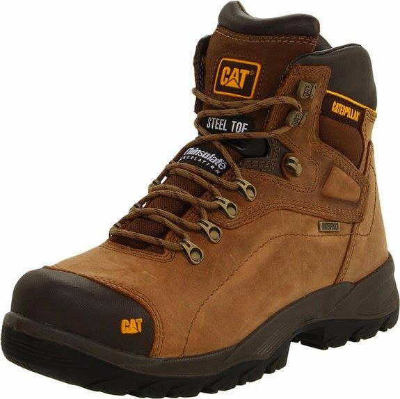 Shoes Boots Caterpillar Men's Diagnostic Steel-Toe Waterproof, Dark Beige - Store Online for Your Live and Style