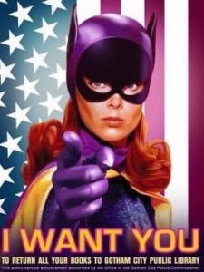 Batgirl.Bats Girls, Libraries Book, Gotham Cities, Libraries Posters, Action Librarians, Batgirl, Batman, Super Heroes, Public Libraries