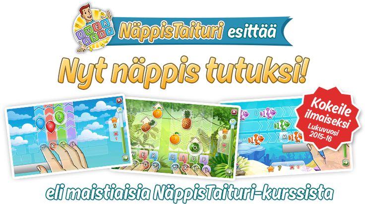 Näppäintaidot tutuksi - ilmaisia harjoituksia alakouluille! http://www.nappistaituri.fi/kokeile.html
