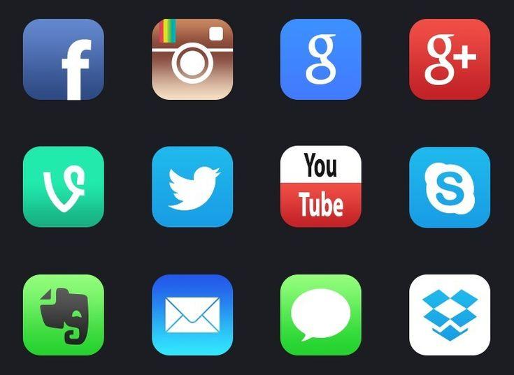 12+-New-iOS-7-Style-Social-Media-APP-Icons.jpg (761×556)