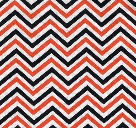 Orange Chevron Fabric Brown Chevron Fabric by SouthernSisterSupply