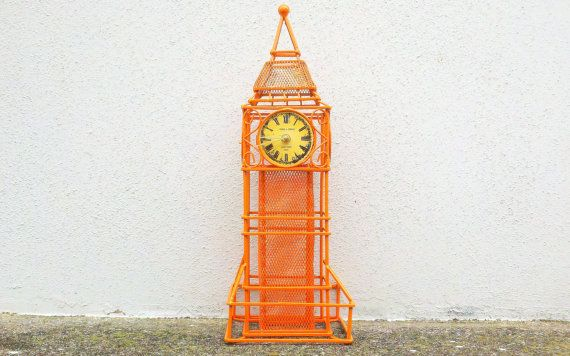 Orange Big Ben Clock   Mantel Clock Home Decor by CurrentClassic, $32.00