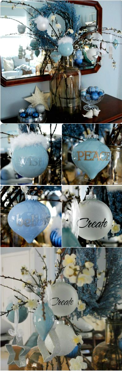Christmas Tutorial ● Painted Glass Ornaments