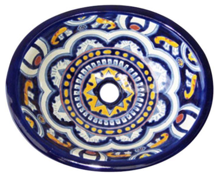 Perfect M 141 Mexican Ceramic Sink Bathroom Talavera Drop In